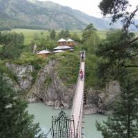 Подвесной мост к храму на острове Патмос