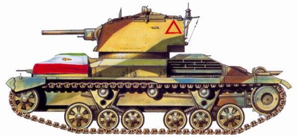 1937. Cruiser Tank Mk.ICS (А9)(с 94-мм гаубицей)