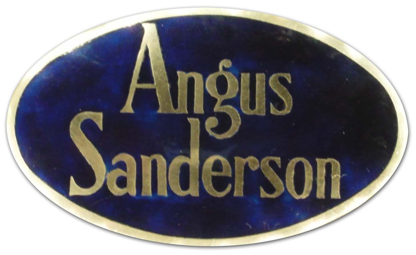 Angus Sanderson (Sir William Angus, Sanderson and Company Ltd.) (1927)