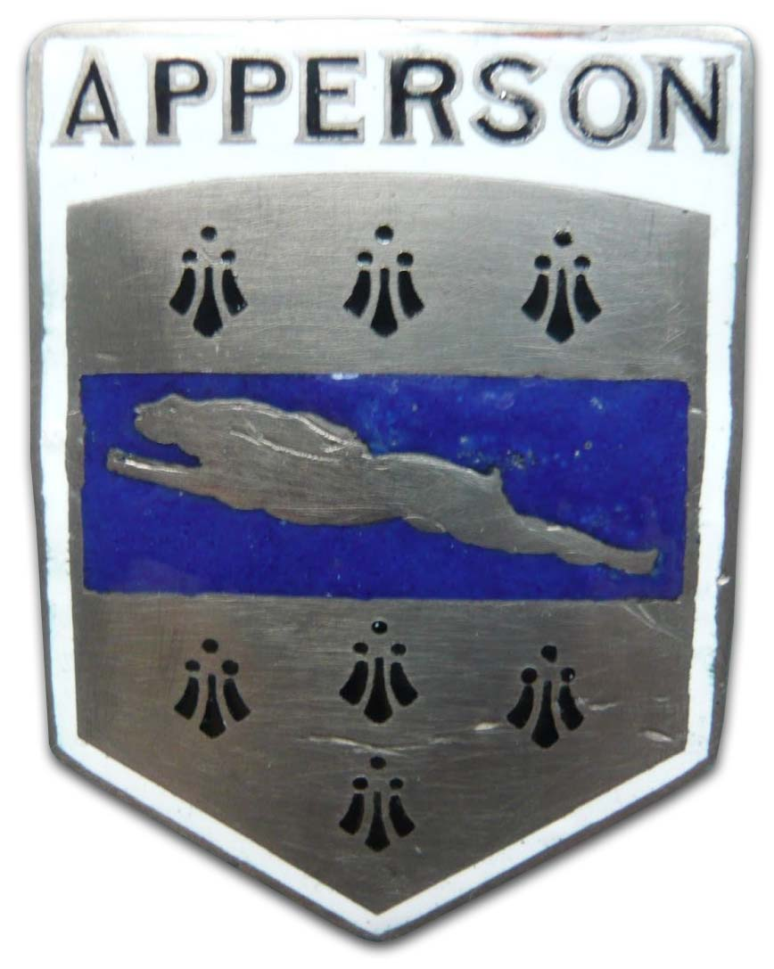 Apperson Brothers Automobile Company (1920 grill emblem)