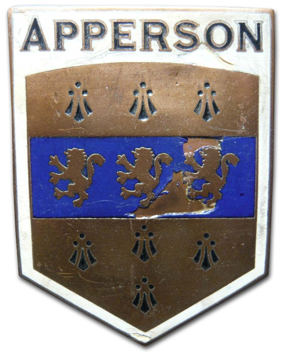 Apperson Brothers Automobile Company (1923 grill emblem)