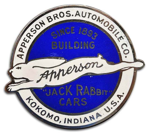 Apperson Brothers Automobile Company (grill emblem)(1914)