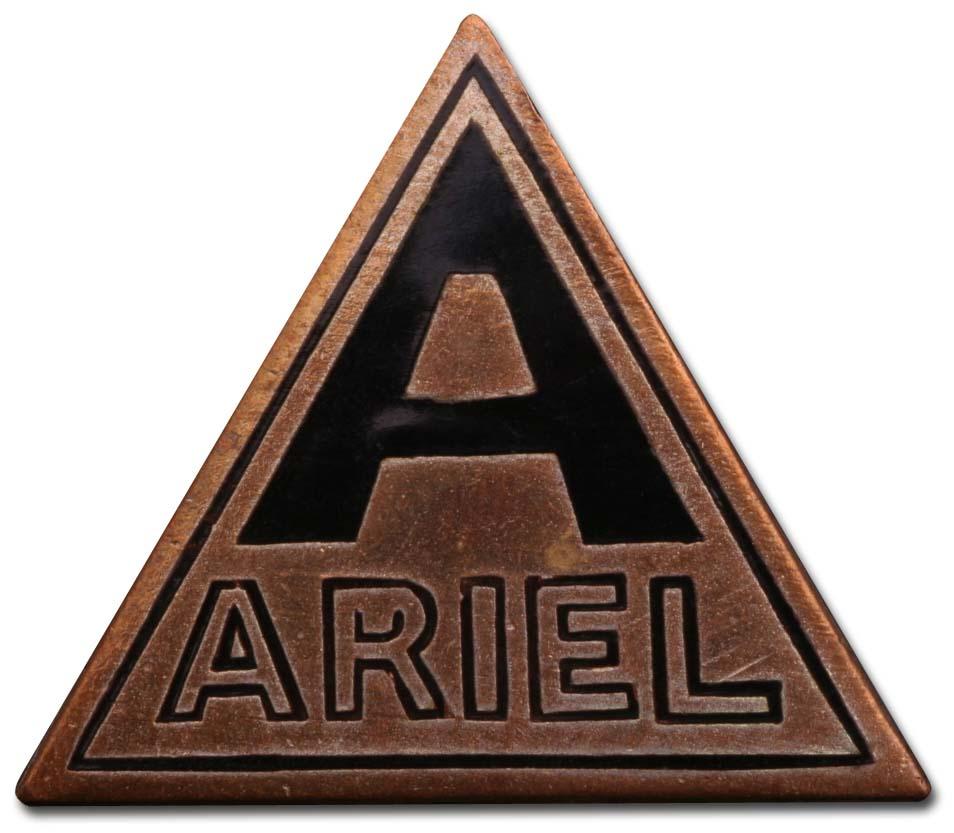 Ariel Nine Tourer (1924 grill emblem)