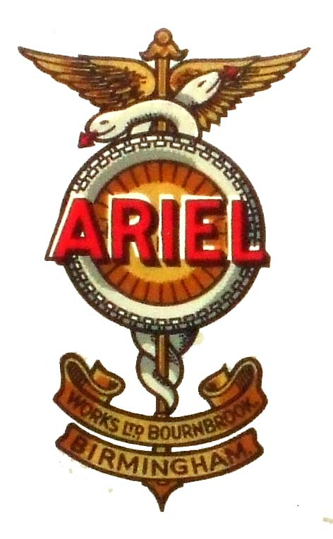 Ariel Petrol Motor Tricycle (1906 fuel tank emblem)(1906)