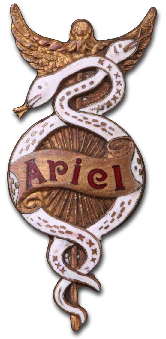 Ariel Works (1910 badge)