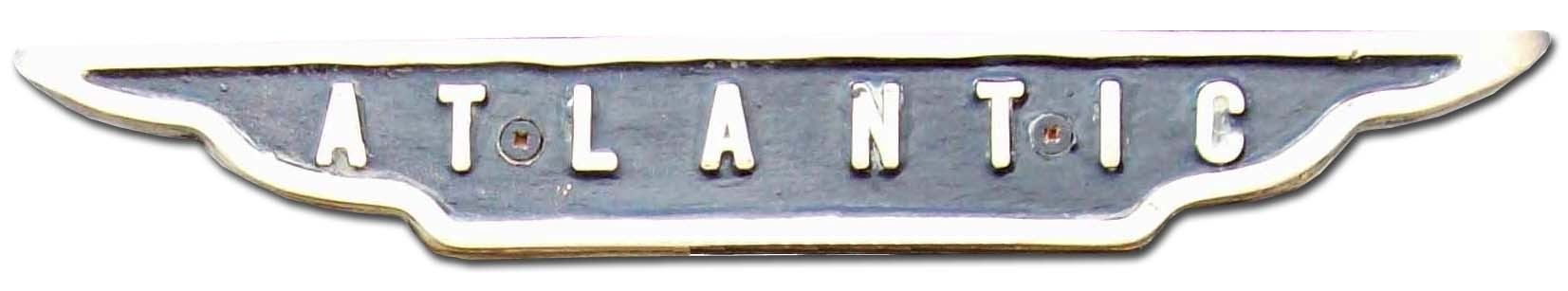 Atlantic (George Rotinoff Motors Ltd) (Colbrook). Rotinoff Atlantic GR7 (1957 grill emblem)