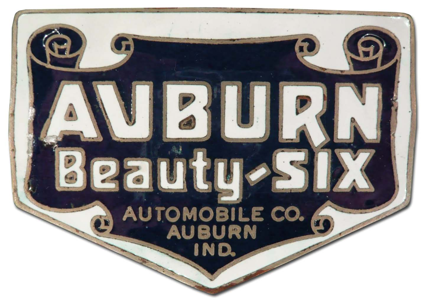 Auburn Beauty-Six (1919-1923 grill emblem)
