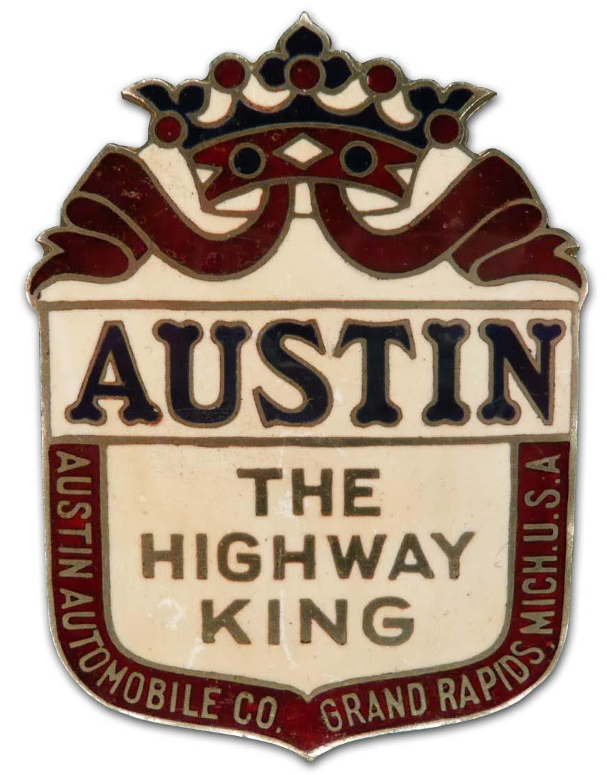 Austin Automobile Company (1917-1920 grill emblem)