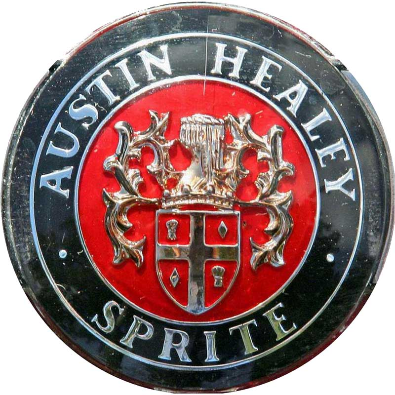 Austin-Healey Sprite Mk I (1958-1961 hood emblem)1