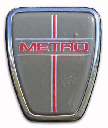 Austin Metro City X 1989.  From 1987 the 'Austin' badge was dropped and cars were simply known as 'Metro'