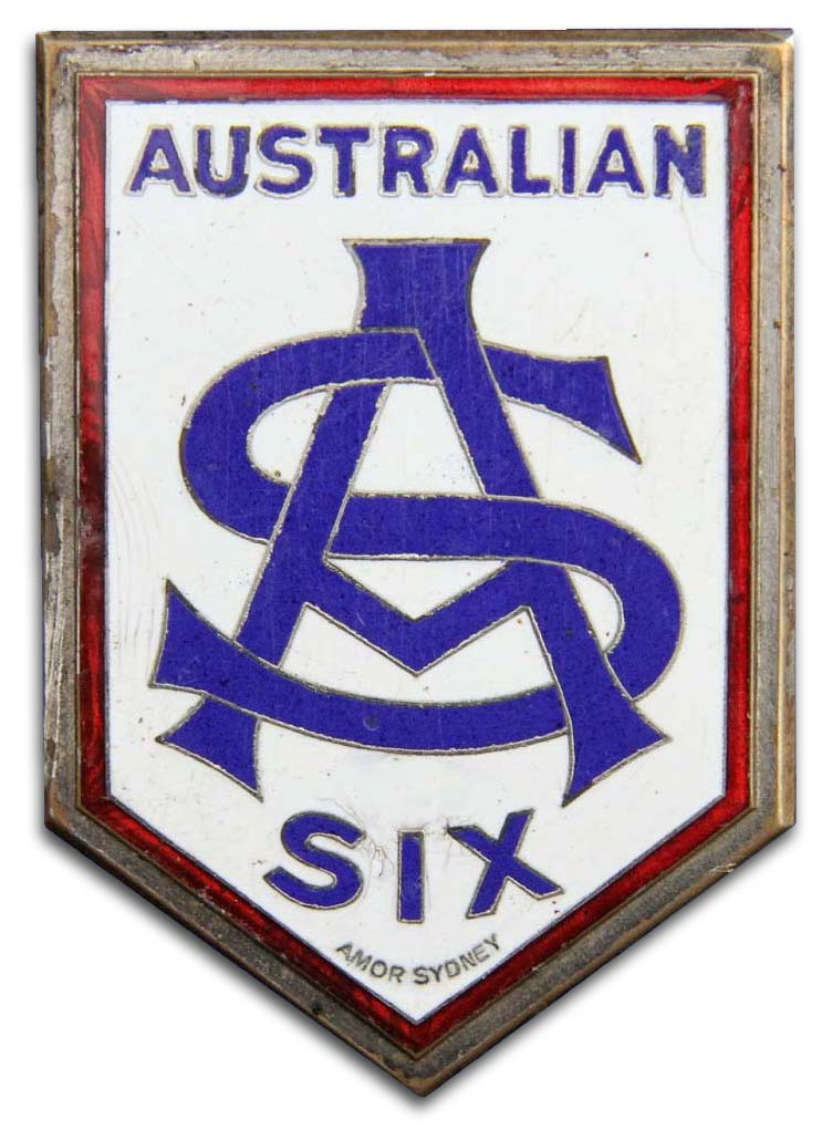 Australian Six (Ashfield, New South Wales, a suburb of Sydney)(1922)