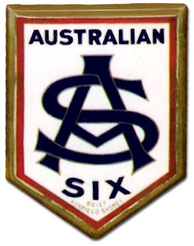Australian Six Roadster (1924 grill emblem)