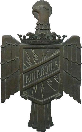 Autarqua (Vehiculos Electricos Autarquia, S.A.) (bus hood emblem)(1944)