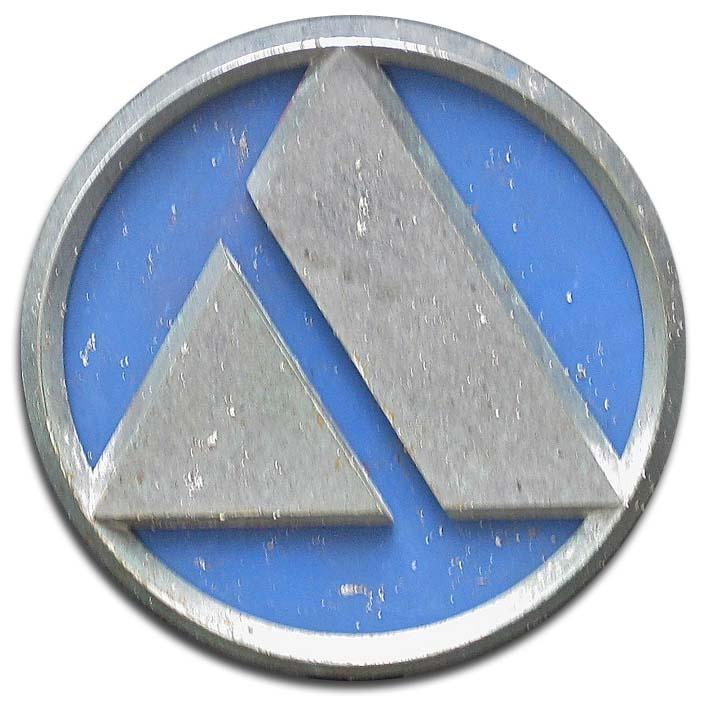 Autobianchi A112 Elegant (1981 grill emblem)