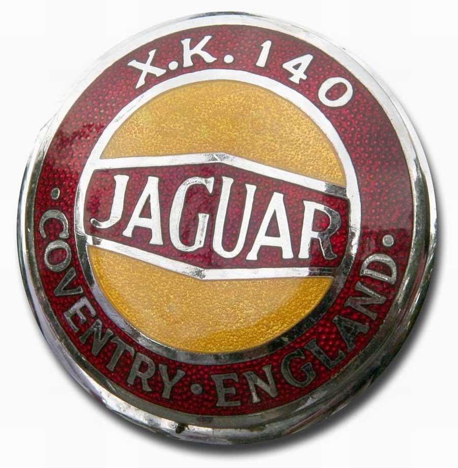 1954. Jaguar XK 140 (1954-1957 hood emblem)