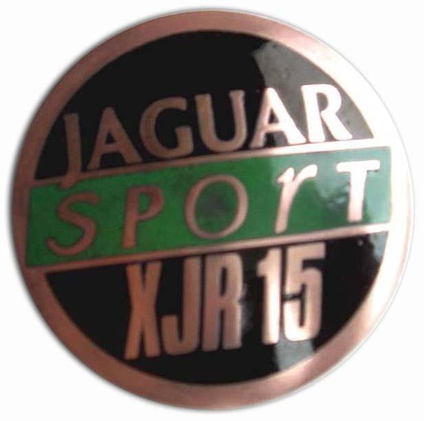 1990. Jaguar XJR-15 Sport (1990-1992 hood emblem. 50 produced)