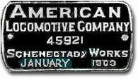 1903. American Locomotive Company (Providence)