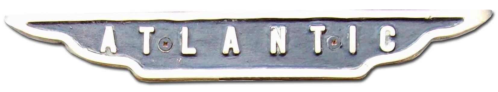 George Rotinoff Motors Ltd (Colbrook). Rotinoff Atlantic GR7 (1957 grill emblem)