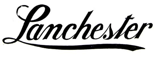 1913. Lanchester Motor Company (Birmingham. Daimler since 1931)
