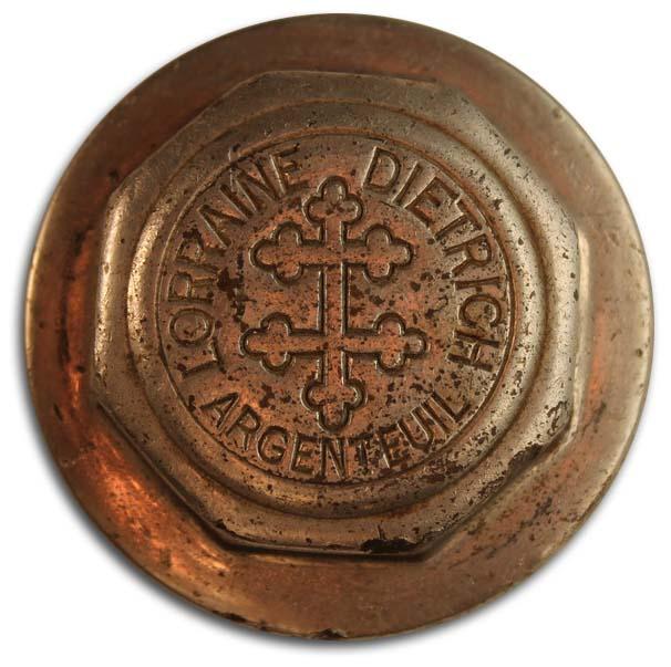 1914. Lorraine-Dietrich (wheel hubcap)