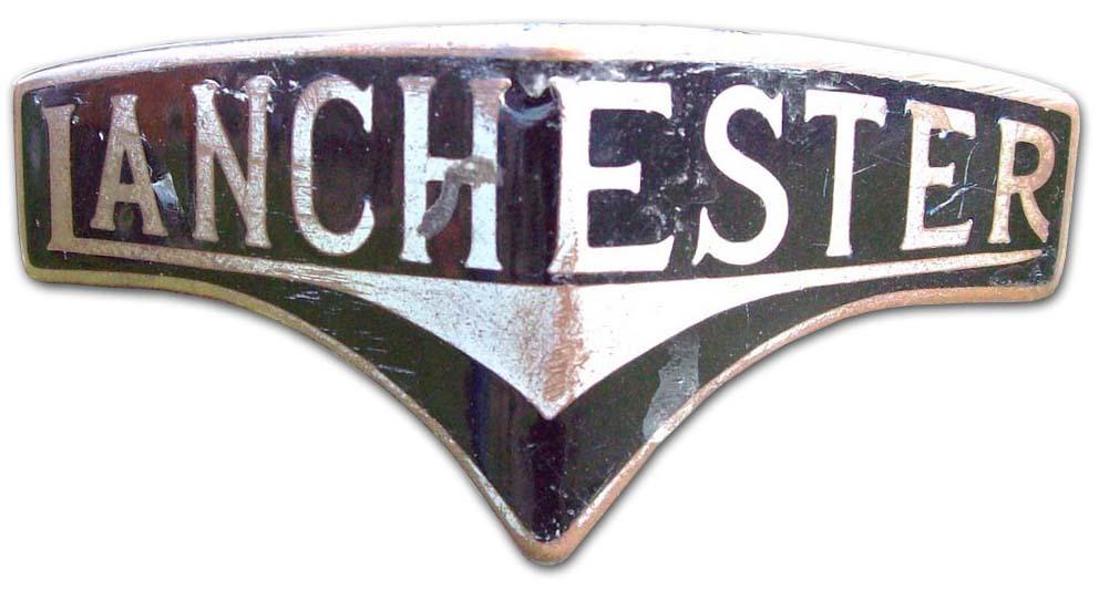 1951-1954. Lanchester Fourteen (Leda) (grill emblem)