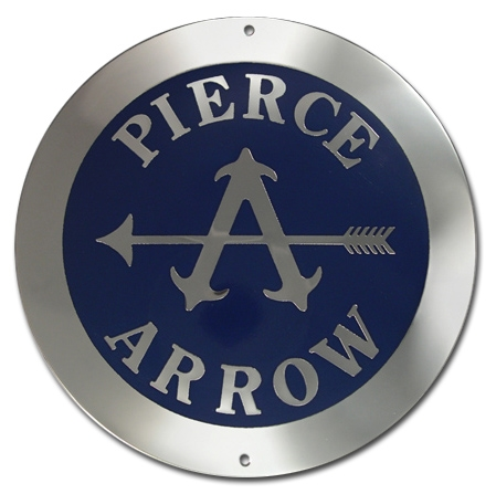 1919. Pierce-Arrow Motor Cars (wheel hubcap emblem)