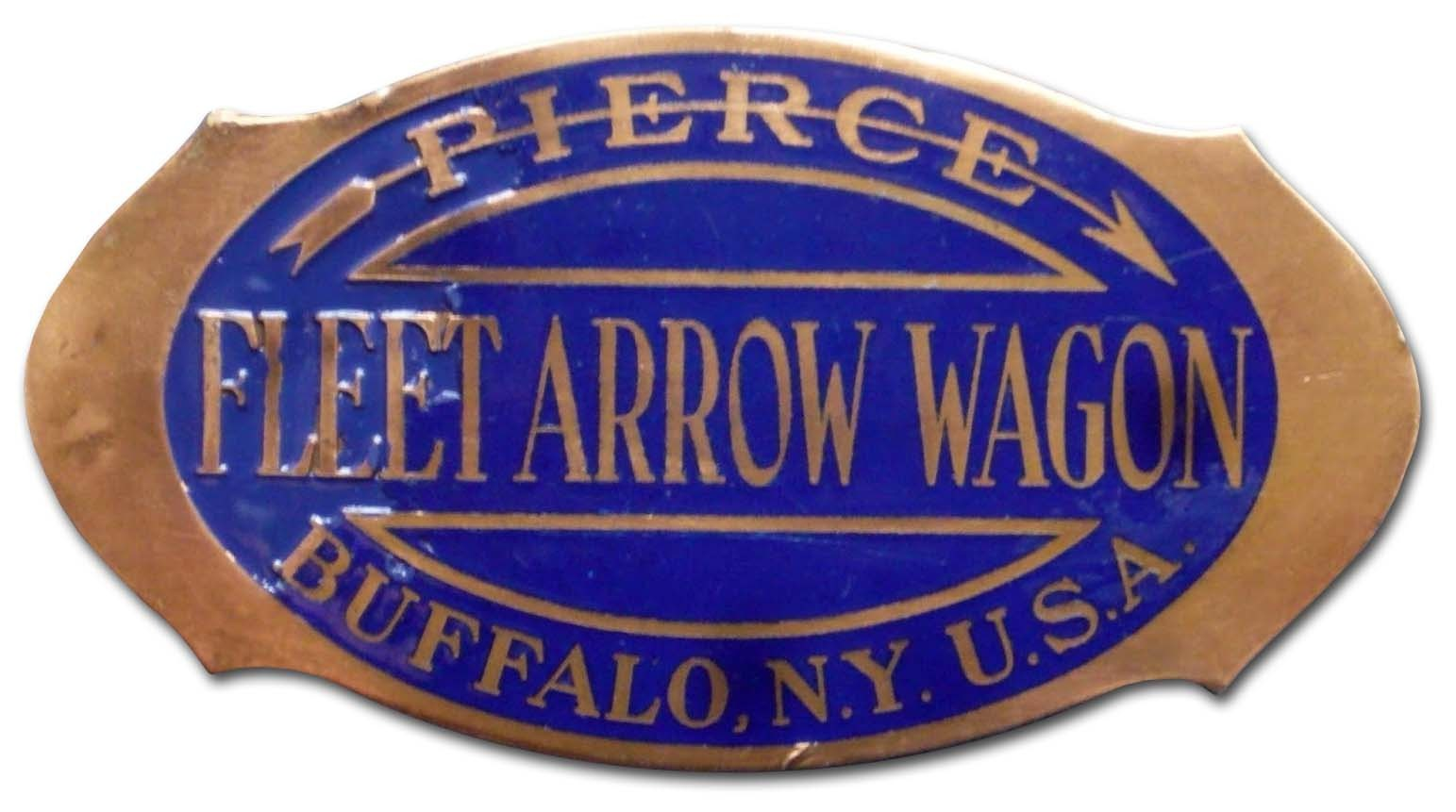 1927-1930. Pierce-Arrow Fleet Wagon (truck grill emblem)
