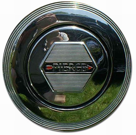 1934. Pierce-Arrow Town Brougham (wheel cover emblem)