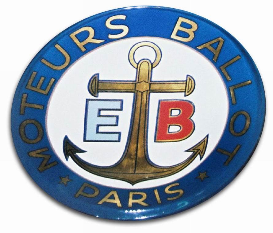1919. Moteurs Ballot Indy Grand Prix (1919 fuel tank emblem)