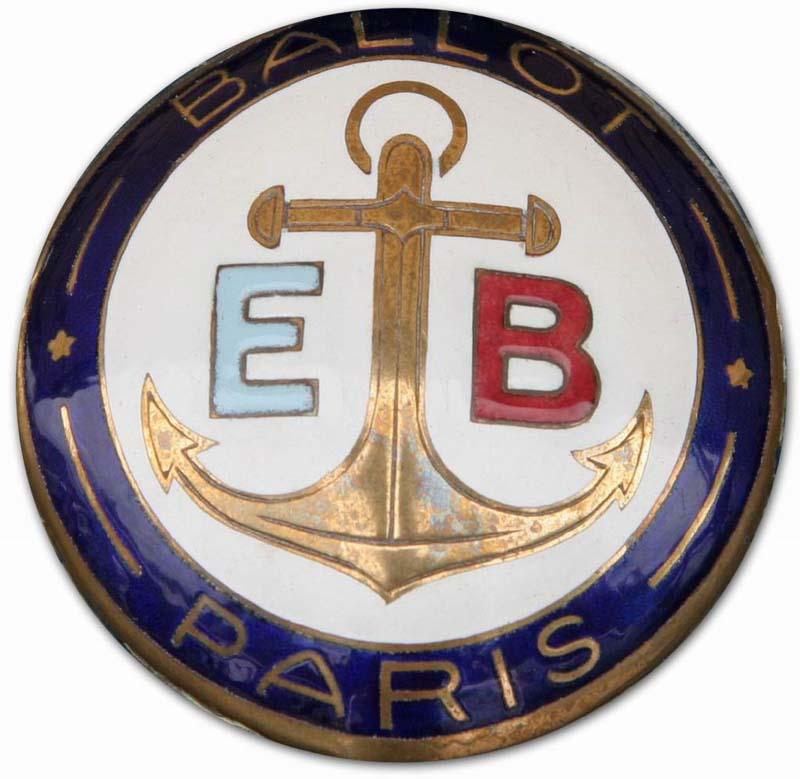 1920. Ernest Ballot Straight 8 (1920 grill emblem)