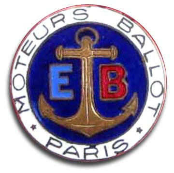 1923. Moteurs Ballot (1923 grill emblem)