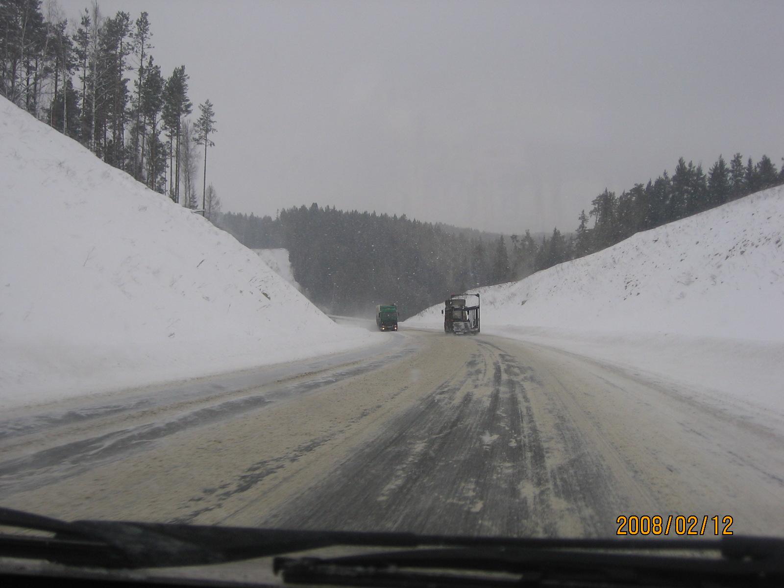 На Урале, зимой 2008 года. Фото автора.