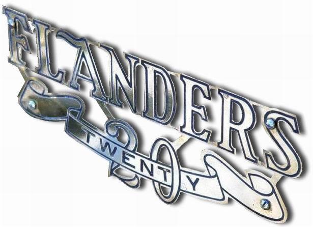 1910-1912. Fanders Twenty (grill emblem)..