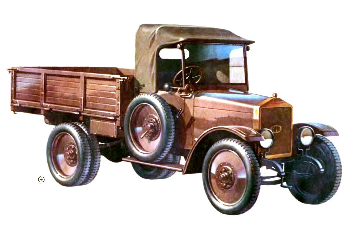 1925-1927. AMO-F15 pervoj promyshlennoj serii