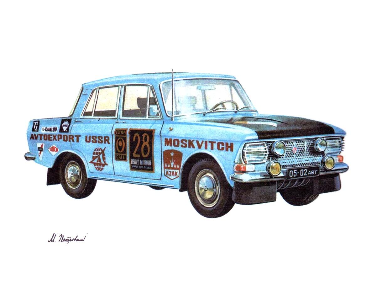 1970. Moskvich-412IE Ralli London-Mexiko