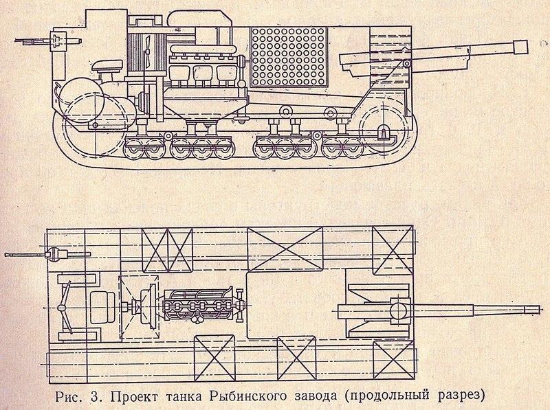1916. Танк Рыбинского завода (проект)