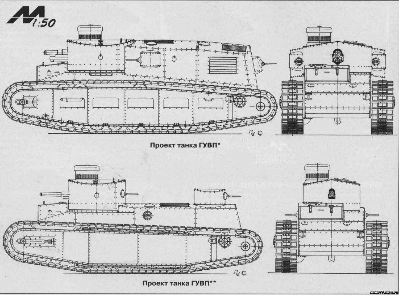 1925. ГУВП - средний танк (проект)
