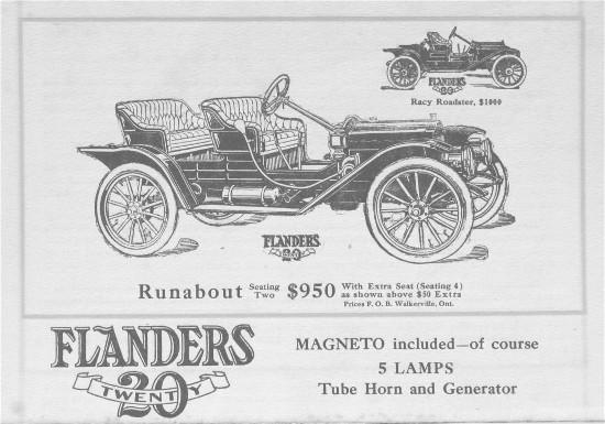 1911. Flanders Runabout and Roadster
