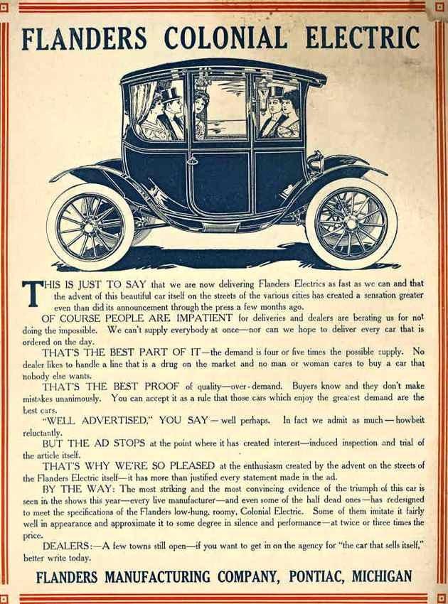 1912-1914. Flanders Electric
