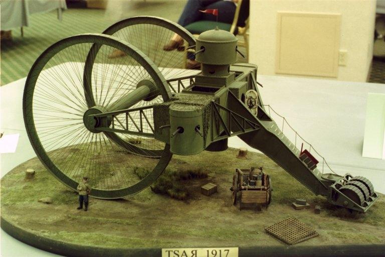 1915. Колёсный танк Лебеденко