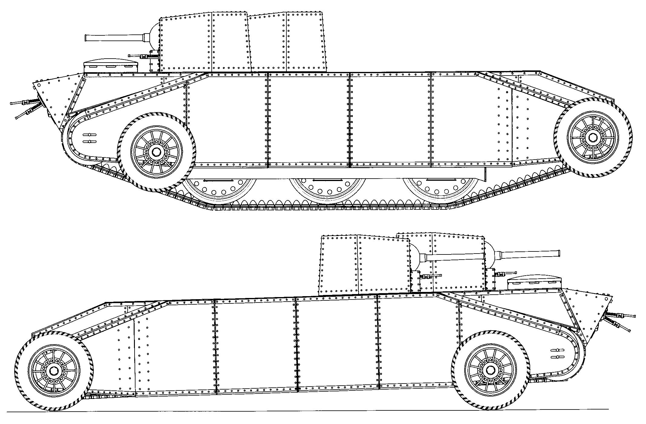 1931. Д-4 - средний колесно-гусеничный двухбашенный танк (прототип)