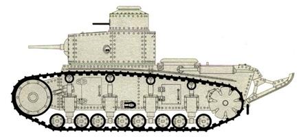1930. Т-12 - средний двухбашенный танк