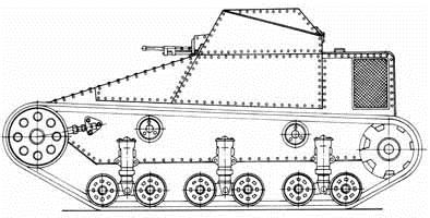 1930. Т-25 (проект 1) - разведывательная танкетка (проект)