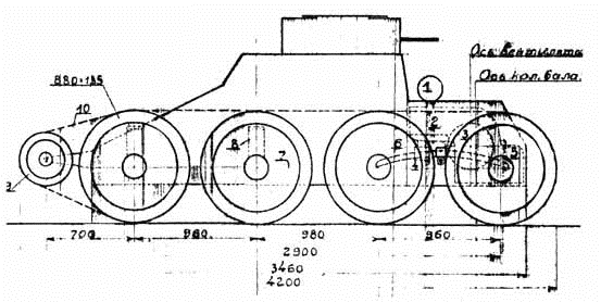 1930. Т-25 (проект 2) - разведывательная колесно-гусеничная танкетка (проект)