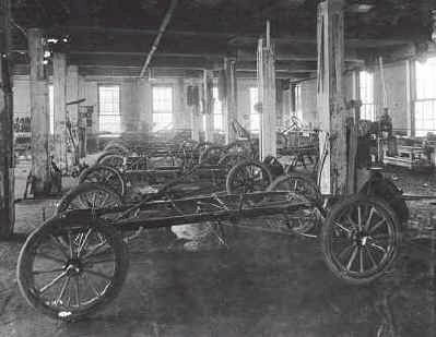Interior of Krit Company automobile shop