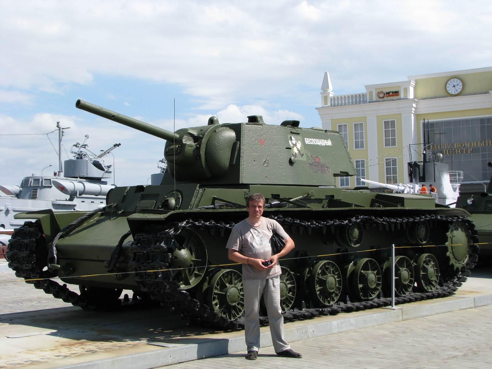 КВ-1 и я в музее УГМК