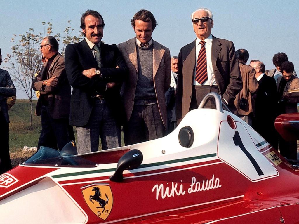 Ferrari 312 T2, Клей Регаццони, Ники Лауда, Энцо Феррари