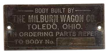 1916. Milburn Wagon Company (Toledo, Ohio)