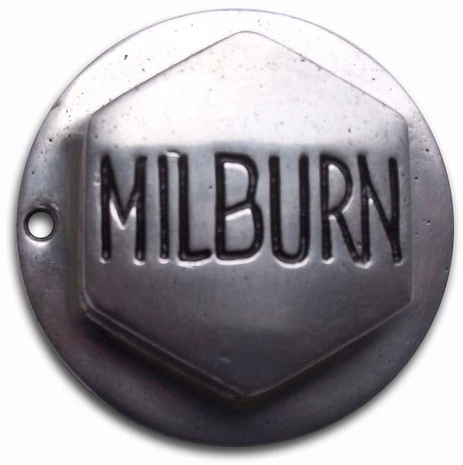 1917. Milburn Wagon Company (electric car wheel hubcap)