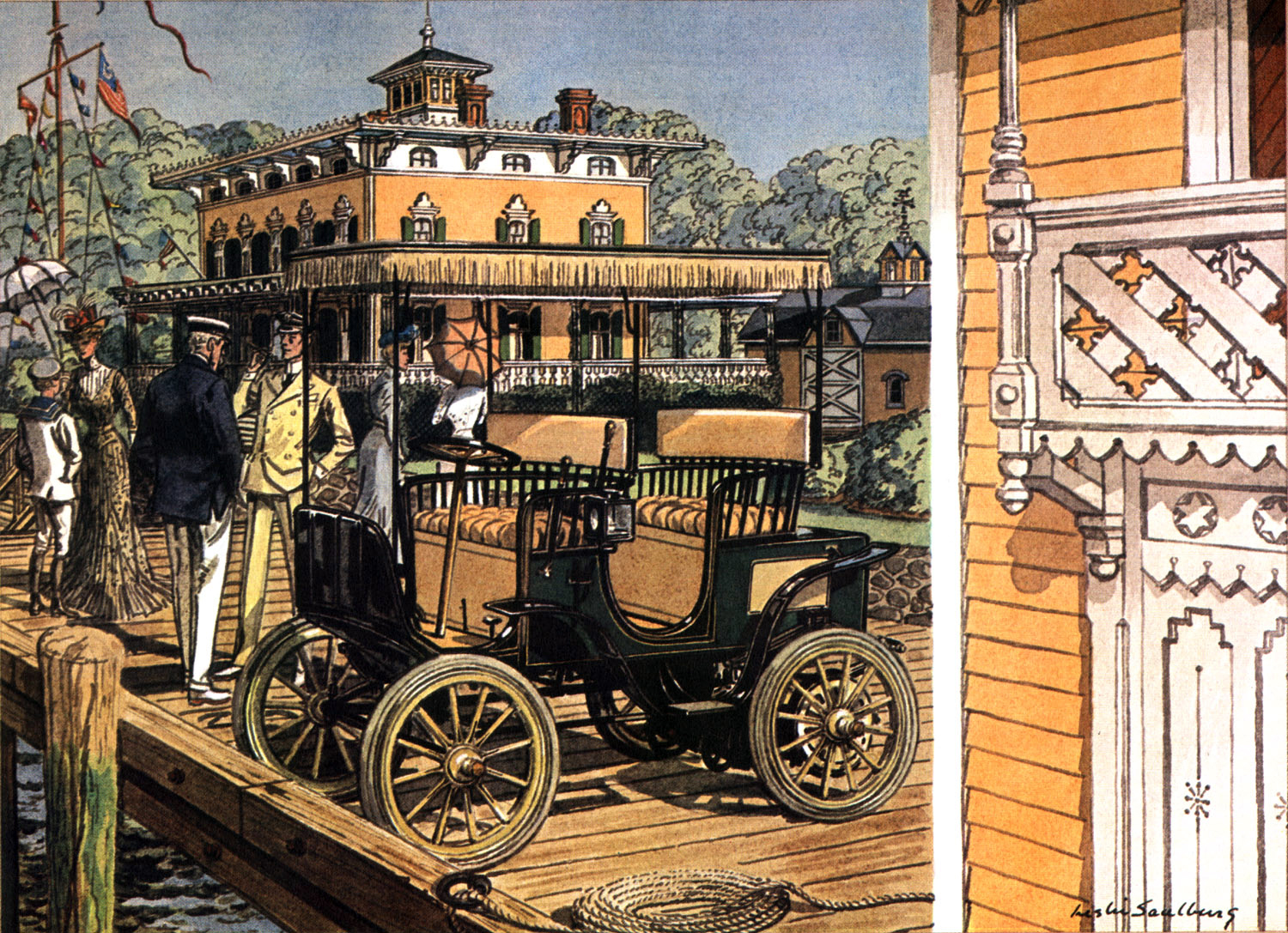 1900 Columbia Electric - Illustrated by Leslie Saalburg